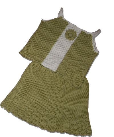 CrochetKim Free Crochet Pattern | Floral Baby Skirt and Tank Top Set @crochetkim