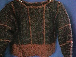 CrochetKim Free Crochet Pattern | Chenille Stripes Sweater