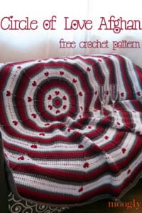 Free Crochet Pattern: Circle of Love Afghan