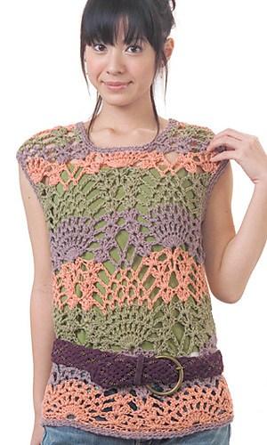 Free Crochet Pattern: Pineapple Sweater