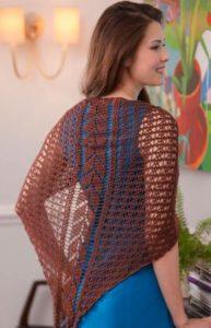 Free Crochet Pattern: Falling Leaves Shawl