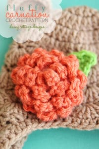 Free Crochet Pattern: Fluffy Carnation