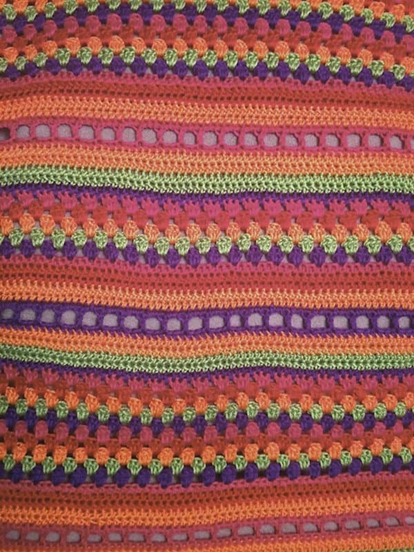 Free Crochet Pattern: Colorful Children's Blanket