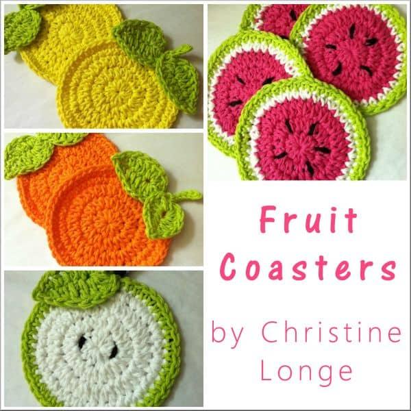 Fruit Coasters Free Crochet Pattern Crochetkim