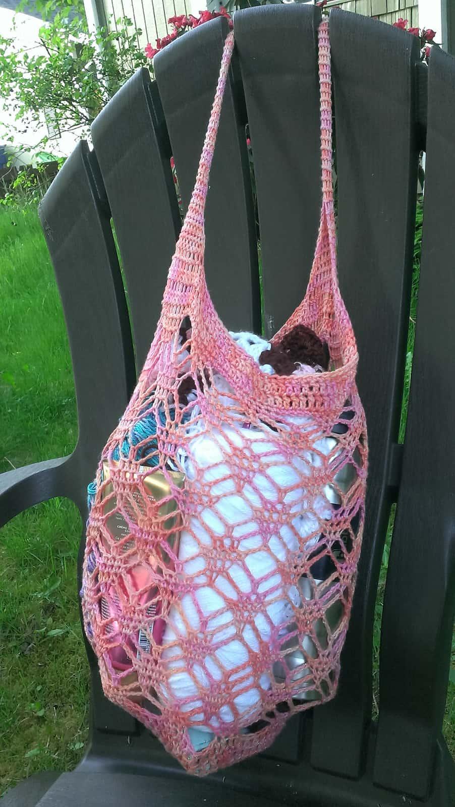 Precious Gem Market Bag Free Crochet Pattern Crochetkim