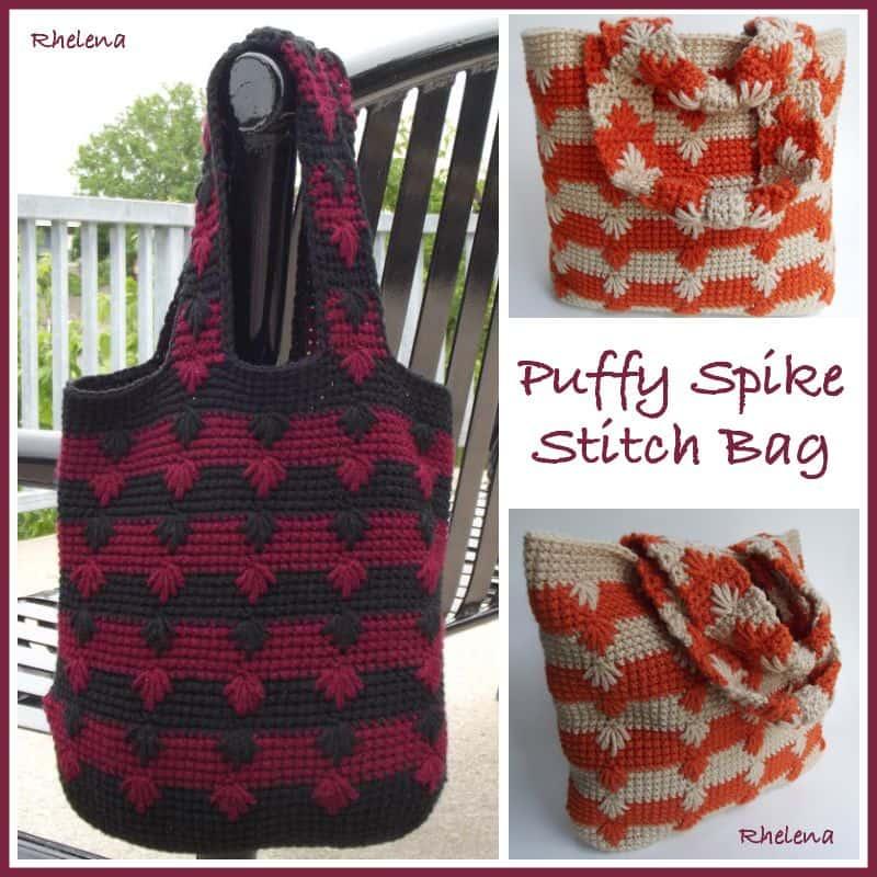 Free Crochet Pattern: Puffy Spike Stitch Bag