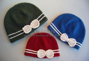 Free Crochet Pattern: Bow Hat