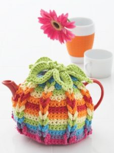 Free Crochet Pattern: Hot Hibiscus Tea Cozy