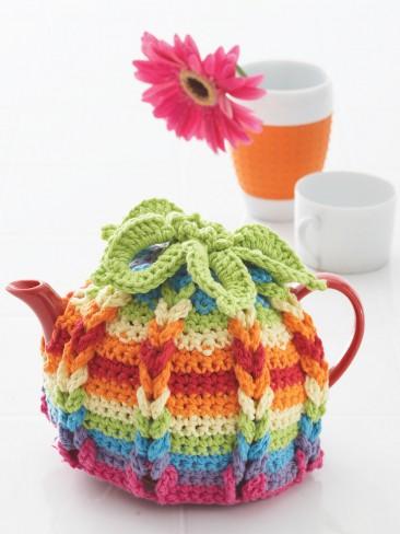 Free Crochet Pattern: Hot Hibiscus Tea Cozy