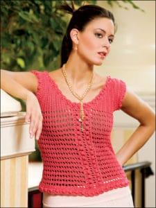 Free Crochet Pattern: Mango Mesh Pullover
