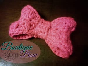 Free Crochet Pattern: Boutique Bow