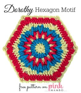 Free Crochet Pattern: Dorothy Hexagon Motif