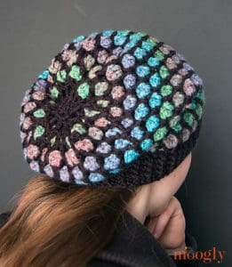 Free Crochet Pattern: Moroccan Midnight Slouch Hat