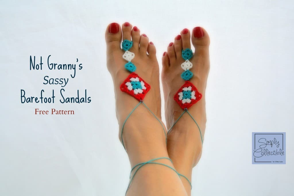 Free Crochet Pattern: Not Granny's Barefoot Sandals