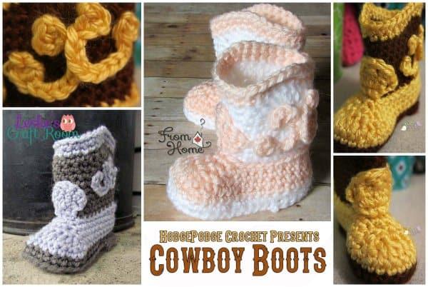 Free Crochet Pattern: Cowboy Boots
