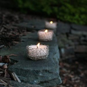 Free Crochet Pattern: Wire Crochet Tealight Holder