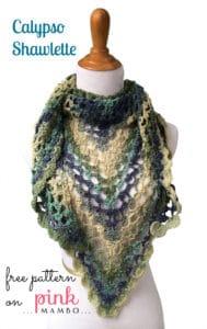 Free Crochet Pattern: Calypso Shawlette