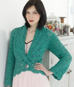 Free Crochet Pattern: Filigree Cardigan