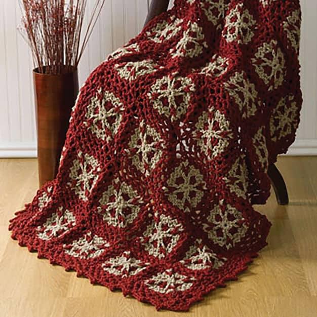 Free Crochet Pattern: Flower Throw