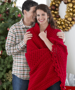 Free Crochet Pattern: Holiday Cables Throw