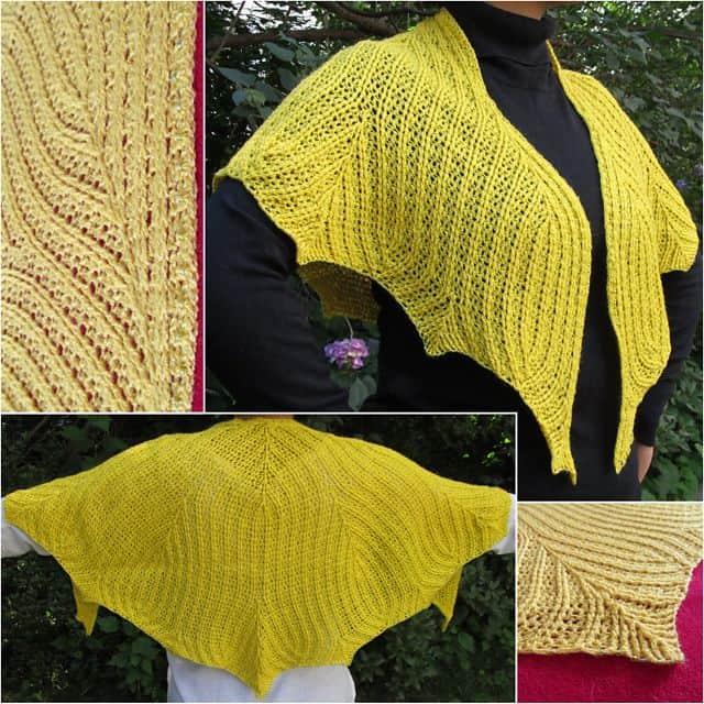 Free Crochet Pattern: Leaflines Shawlette