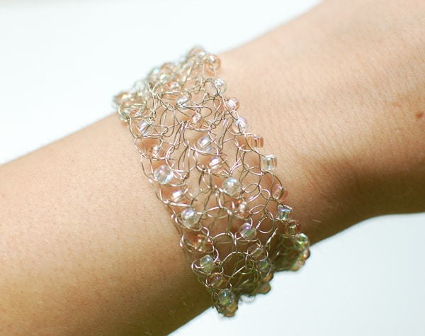 Crochet With Wire | Beaded Wire Bracelet Free Crochet Pattern Crochetkim