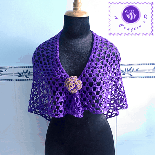 Free Crochet Pattern: Purple Glam Shawl
