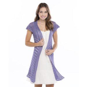 Free Crochet Pattern: Lacy Swing Cardigan