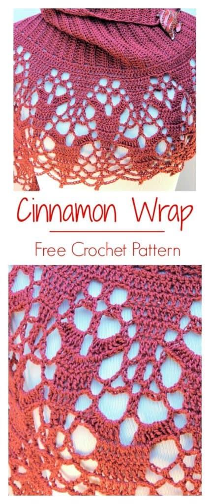 Cinnamon Fling Wrap CrochetKim Free Crochet Pattern