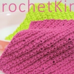 Diagonal Ribs Washcloth Free Knit Pattern