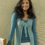 Evian Tie Front Vest Free Knit Pattern