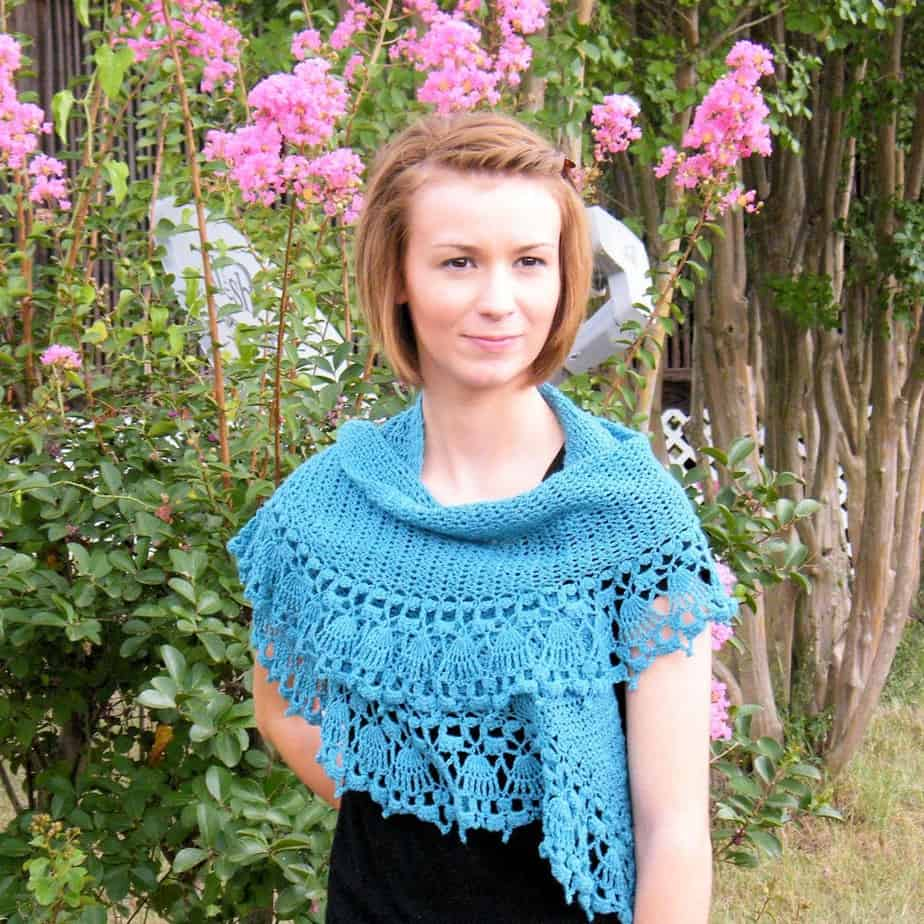 Paper Dolls Shawlette CrochetKim Free Crochet Pattern
