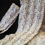 Twisted Cable Scarf and Headband Free Crochet Pattern