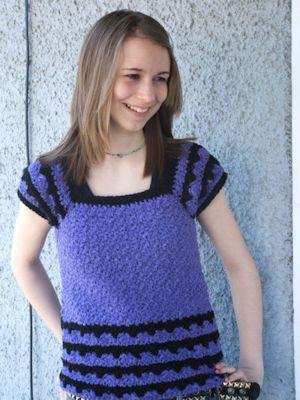CrochetKim Free Crochet Pattern   Brianna Spring Top @crochetkim