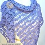 Butterfly Fling Wrap Free Crochet Pattern