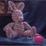 Chenille Easter Bunny Free Crochet Pattern