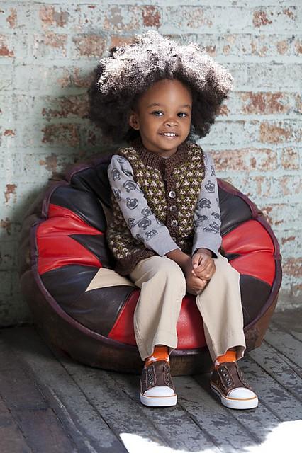 City Kid Vest | CrochetKim Free Knit Pattern