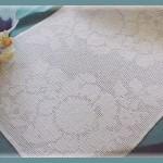 Elegant Floral Table Scarf Free Filet Crochet Pattern