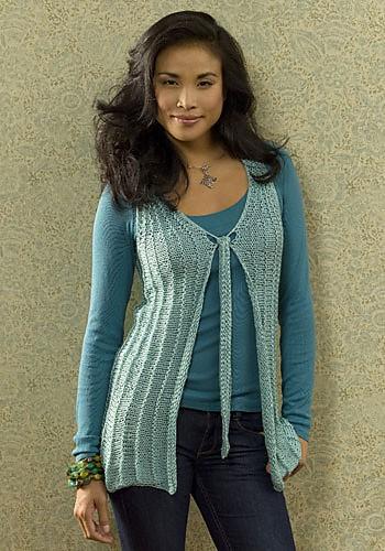 Evian Vest | Crochet Free Knit Pattern