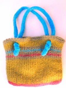 Easy Felted Bag Free Tunisian Crochet Pattern
