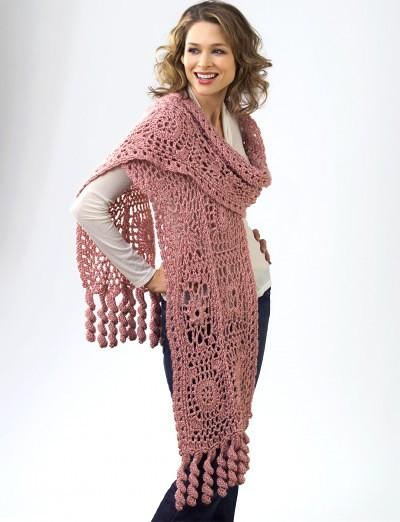 Flower Motif Wrap | CrochetKim Free Crochet Pattern