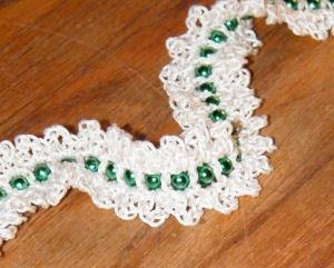 CrochetKim Free Crochet Pattern | Christmas Tree Bead Garland @crochetkim