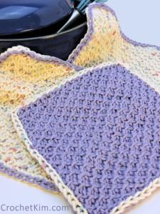 CrochetKim Free Tunisian Crochet Pattern: Honeycomb Scrubs