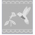Hummingbird Filet Chart 2 Free Crochet Pattern