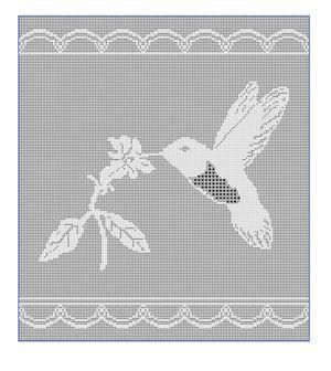 CrochetKim Free Crochet Pattern | Hummingbird Filet Chart @crochetkim