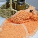 Oven Mitt Set Free Tunisian Crochet Pattern