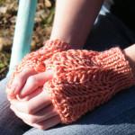 Lucia Fingerless Mitts Free Tunisian Crochet Pattern