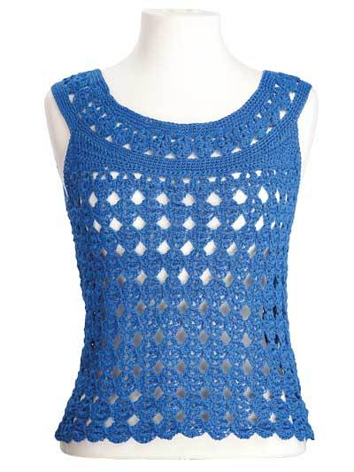 CrochetKim Free Crochet Pattern | Marilyn Sleeveless Top @crochetkim