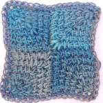 Tunisian Miter Squared Afghan Block Free Crochet Pattern