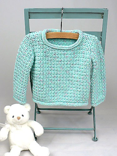 CrochetKim Free Crochet Pattern | Baby Pullover